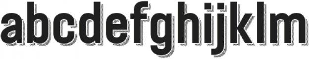 Festivo Clean Shadow3 otf (400) Font LOWERCASE