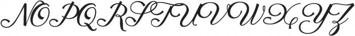 Fetima Regular otf (400) Font UPPERCASE