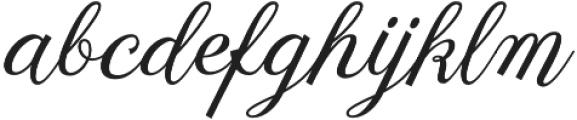 Fetima Regular otf (400) Font LOWERCASE