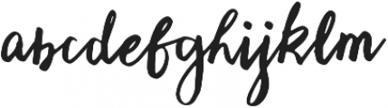 Fetuchene otf (400) Font LOWERCASE