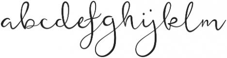 featherly bold otf (700) Font LOWERCASE