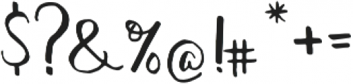 featherly handlettered otf (400) Font OTHER CHARS