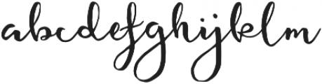 featherly handlettered otf (400) Font LOWERCASE