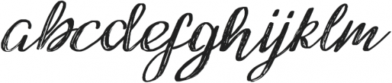 featherly ttf (400) Font LOWERCASE