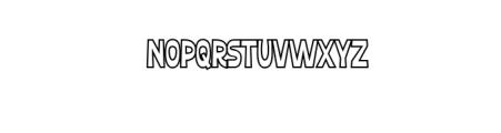 Ferguso Outline.ttf Font UPPERCASE