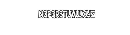 Ferguso Outline.ttf Font LOWERCASE