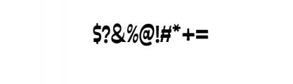 Ferguso.ttf Font OTHER CHARS
