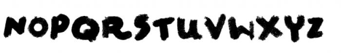 Felt Noisy Font UPPERCASE