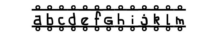 FE-Banner Font LOWERCASE