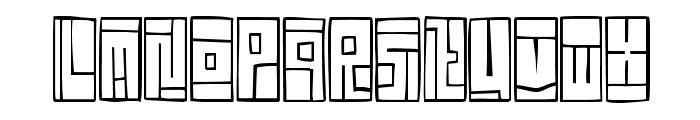 FE-BoxFont Font UPPERCASE