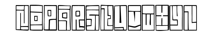 FE-BoxFont Font LOWERCASE