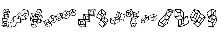 FE-BoxinaBox Font UPPERCASE