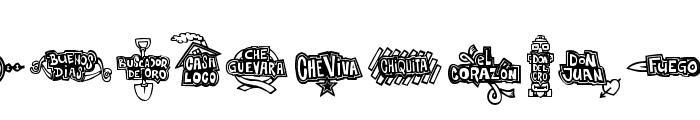 FE-CheVivaBanana Font UPPERCASE