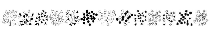 FE-Confetti Font UPPERCASE