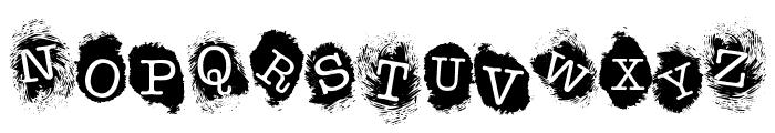 FE-FingerprintsInside Font UPPERCASE