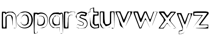 FE Grungee 23 Font LOWERCASE