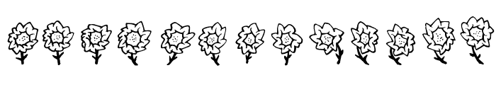 FE-Maja'sFlowers Font UPPERCASE