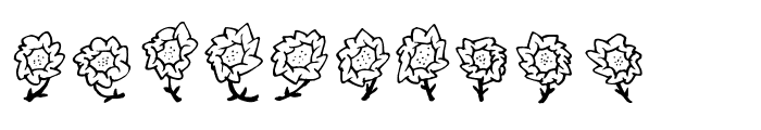 FE-Maja'sFlowers Font LOWERCASE