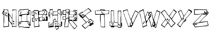 FE-Planks Font UPPERCASE