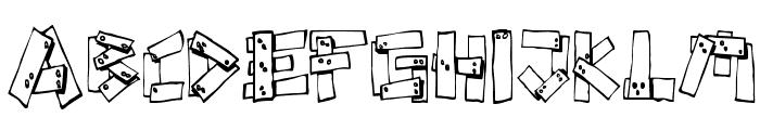 FE-Planks Font LOWERCASE