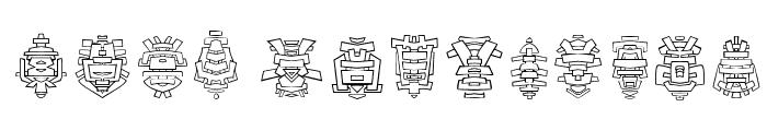 FE-Tribal Font LOWERCASE
