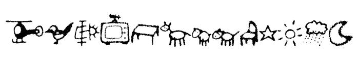 FECrayonKids-Regular Font LOWERCASE