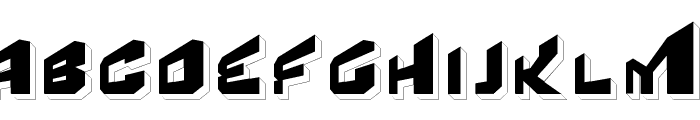 Fear Factor '3D' Font UPPERCASE