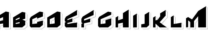 Fear Factor '3D' Font LOWERCASE