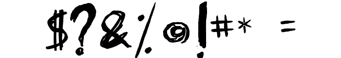 Fearless Coyne Shadow Font OTHER CHARS