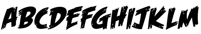 Feast of Flesh BB Italic Font UPPERCASE