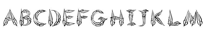 FeatheredFlight Font UPPERCASE