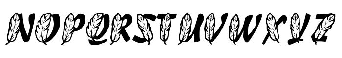FeathersInYourCapsRegular Font UPPERCASE