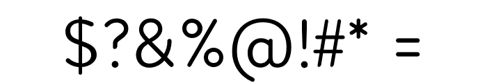 Febrero-Regular Font OTHER CHARS