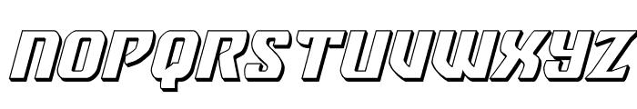 Federal Blue 3D Italic Font UPPERCASE