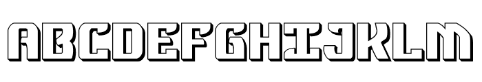 Federal Blue 3D Font UPPERCASE