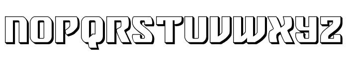 Federal Blue 3D Font LOWERCASE
