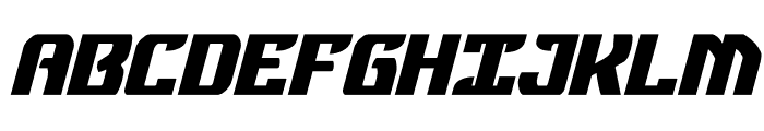 Federal Blue Bold Italic Font UPPERCASE