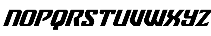 Federal Blue Super-Italic Font UPPERCASE