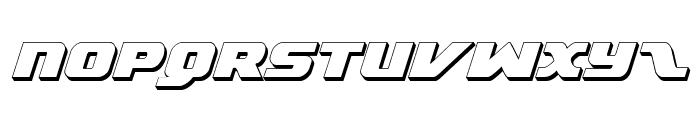 Federal Escort 3D Italic Font UPPERCASE