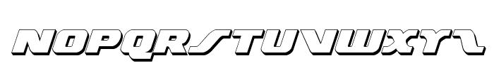 Federal Escort 3D Italic Font LOWERCASE