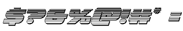 Federal Escort Chrome Italic Font OTHER CHARS