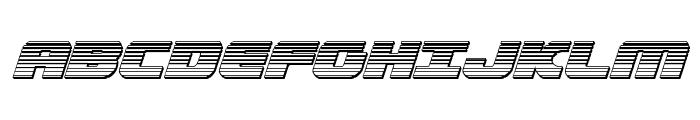 Federal Escort Chrome Italic Font UPPERCASE