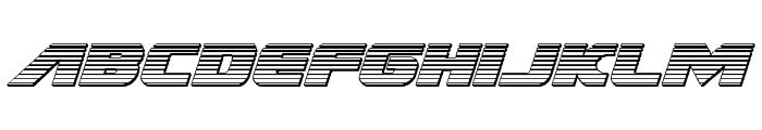 Federal Escort Chrome Italic Font LOWERCASE