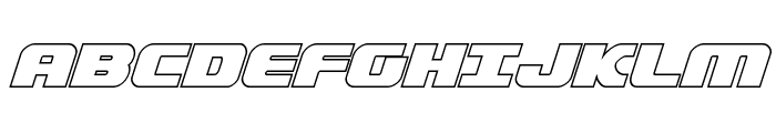 Federal Escort Outline Italic Font UPPERCASE