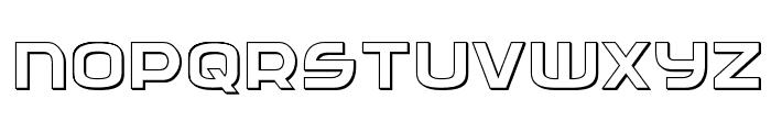 Federal Service 3D Regular Font LOWERCASE