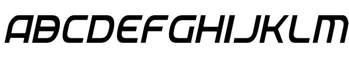 Federal Service Light Condensed Italic Font LOWERCASE