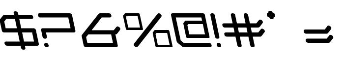 Federapolis Leftalic Font OTHER CHARS