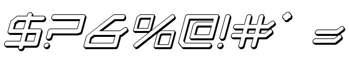 Federapolis Shadow Italic Font OTHER CHARS