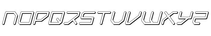 Federapolis Shadow Italic Font UPPERCASE