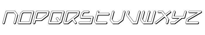 Federapolis Shadow Italic Font LOWERCASE